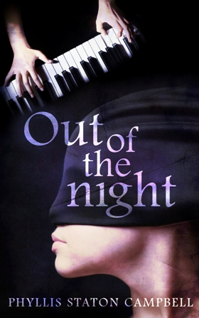 Out of the Night, a suspense novel by Phyllis Campbell, book cover