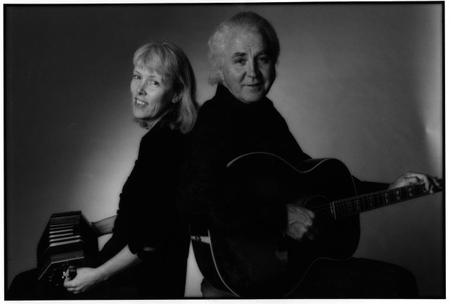 Singer-songwriters Steve Gillette & Cindy Mangsen Playing Guitar and Concertina: photo by Irene Young