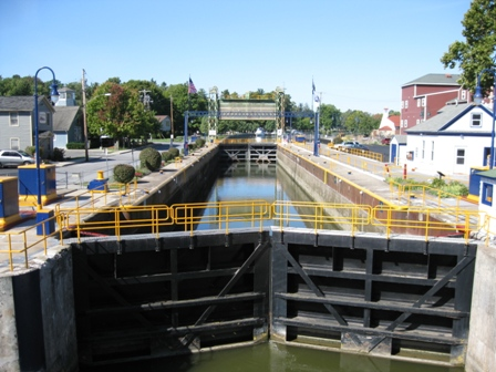 Lock 24 on the Erie Canal in Baldwinsville, NY, mid September: photo by Rich Hill