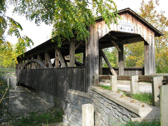 Pennsylvania has many covered bridges & many rural citizens with no real police protection: photo by Rich Hill.