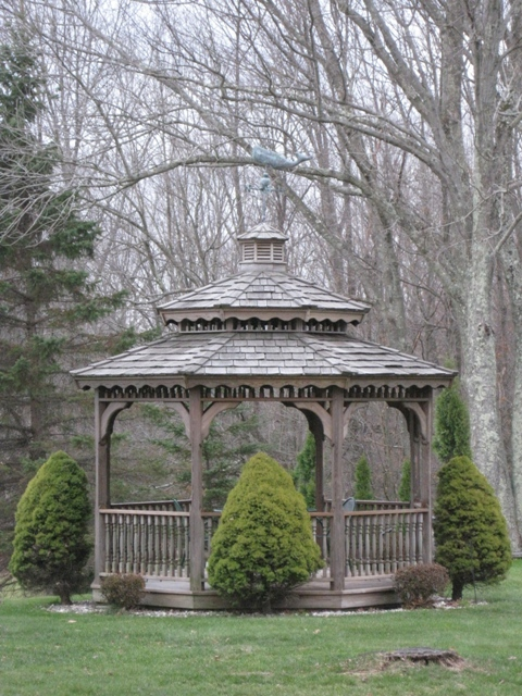 Writers' Gazebo: photo by Rich Hill.